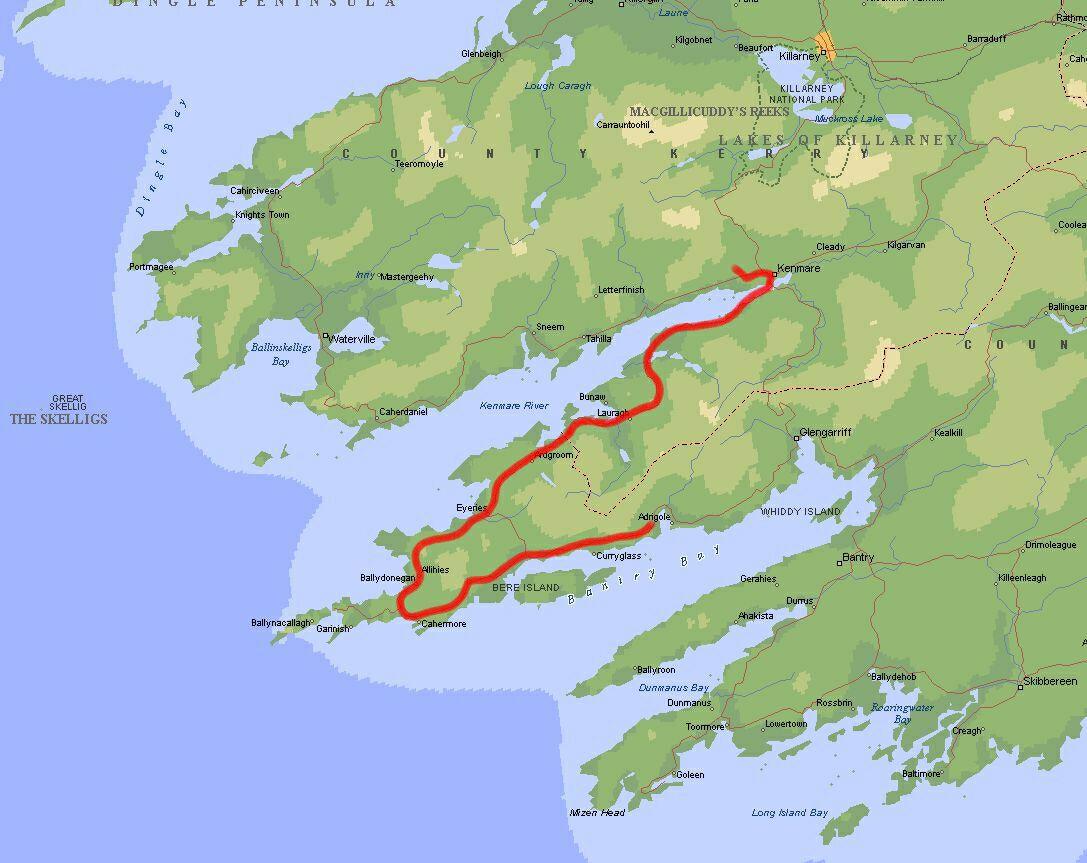 Irland Reisebericht Karte